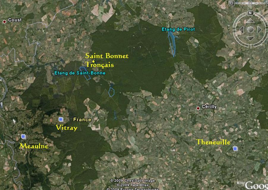 La forêt de Tronçais - Allier (03) Carte_11