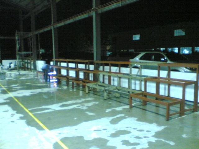 Bleacher Bench and Epoxy Painting for Covered Court at APC-Cav2 Image010
