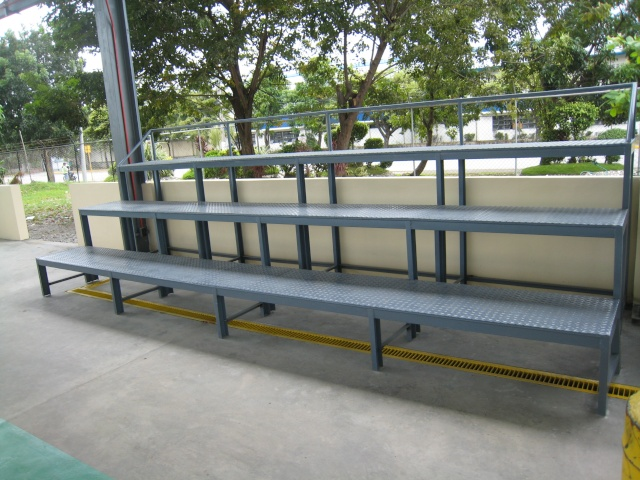 Bleacher Bench and Epoxy Painting for Covered Court at APC-Cav2 Img_4510