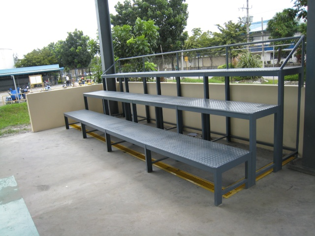 Bleacher Bench and Epoxy Painting for Covered Court at APC-Cav2 Img_4511