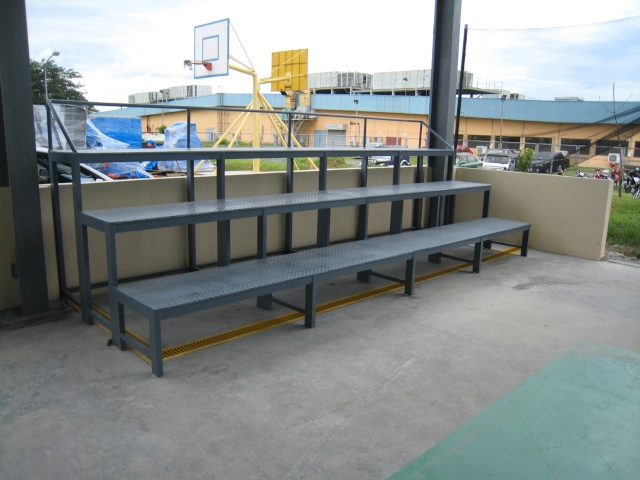 Bleacher Bench and Epoxy Painting for Covered Court at APC-Cav2 Img_4512