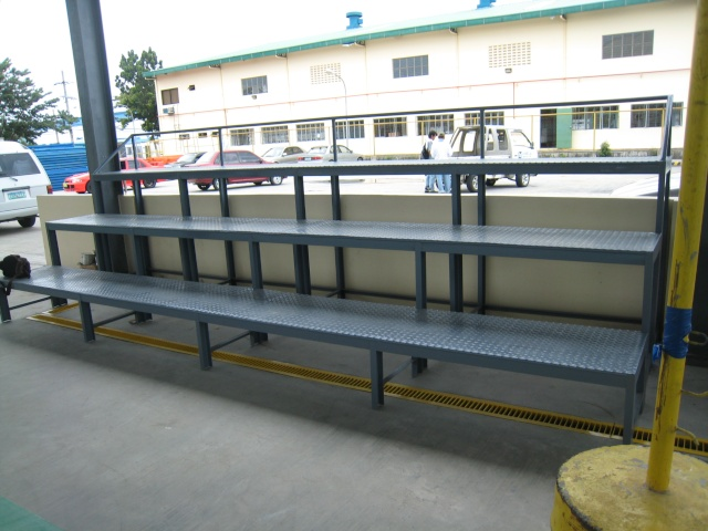 Bleacher Bench and Epoxy Painting for Covered Court at APC-Cav2 Img_4513
