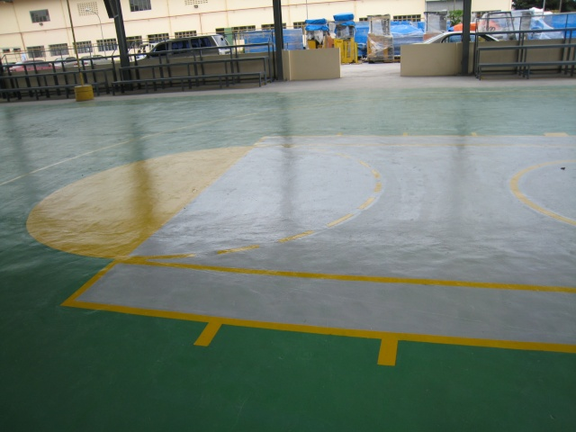 Bleacher Bench and Epoxy Painting for Covered Court at APC-Cav2 Img_4610