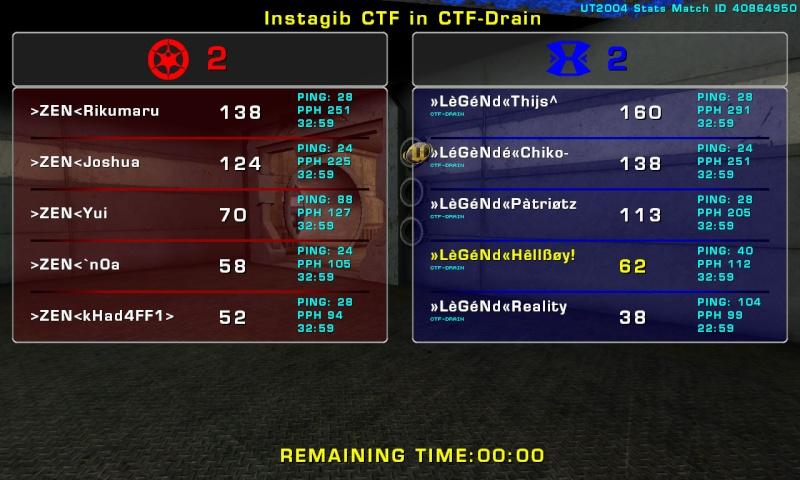 Match »LèGéNd« vs ZEN Thursday 16 October 2008 21:00 hours CET (iCTF Opencup Third match 5 vs 5) Legend10