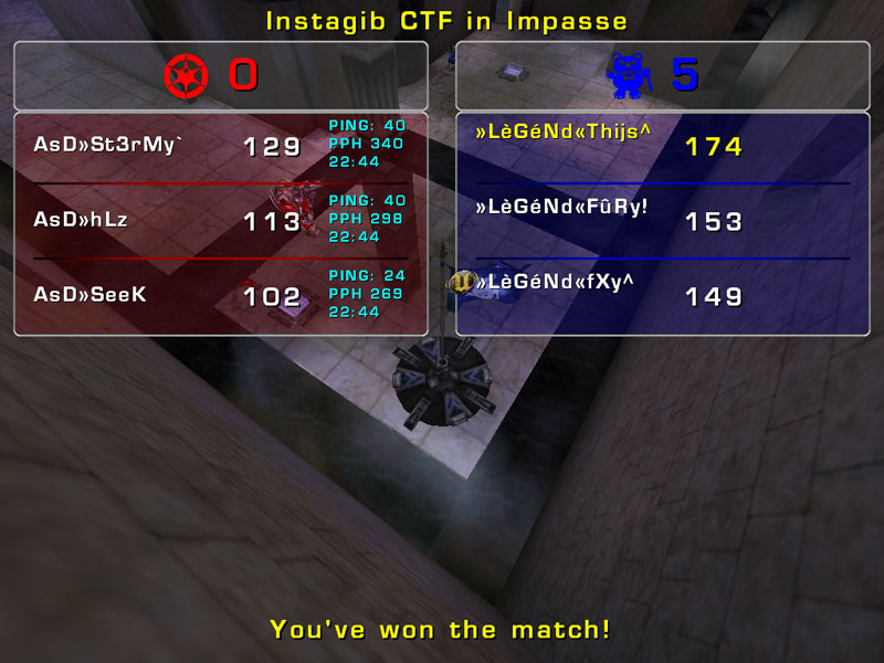 Match »LèGéNd« vs AsD Tuesday 13 January 2009  21:00 hours CET (iCTF ladder 3 vs 3) Legend12