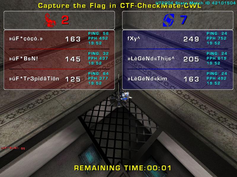 Match »LèGéNd« vs uF  Wednesday 7 January 2009 21:00 hours CET (iCTF ladder 3 vs 3) Uf_leg10