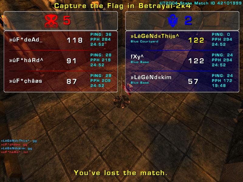 Match »LèGéNd« vs uF  Wednesday 7 January 2009 21:00 hours CET (iCTF ladder 3 vs 3) Uf_leg11