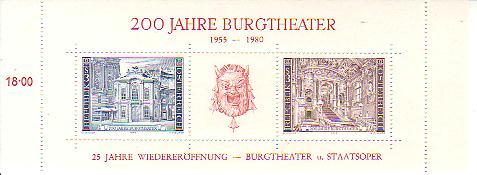 Blockausgaben Österreich Burgth10