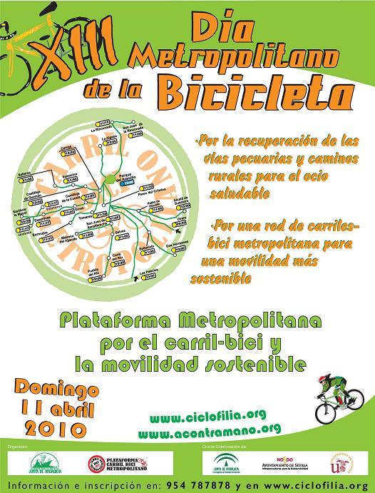 XIII DIA METROPOLITANO DE LA BICICLETA 2010 Cartel12