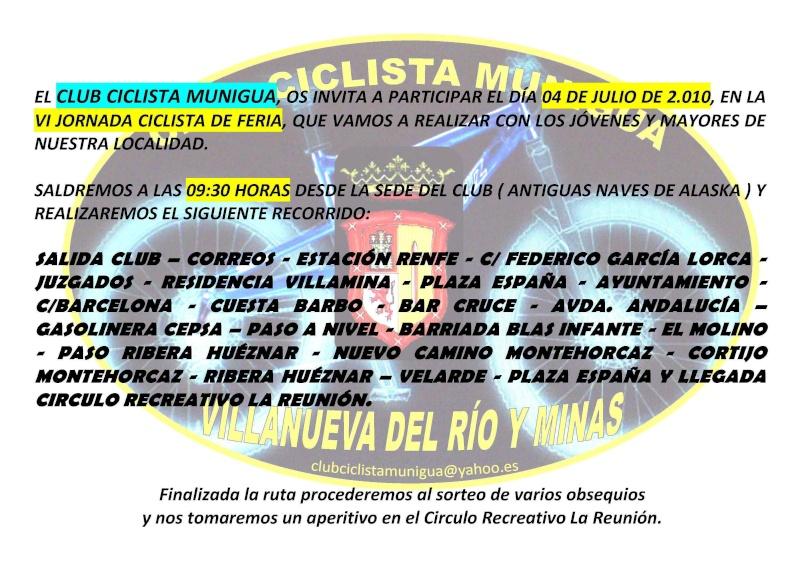 VI JORNADA CICLISTA DE FERIA 04-Julio-2010 Cartel18