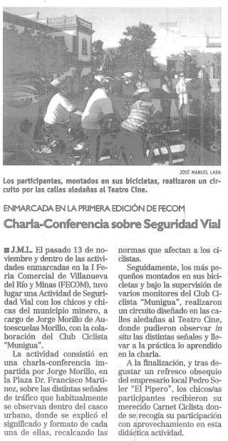 CHARLAS I.E.S MUNIGUA Y ACTIVIDAD SEGURIDAD VIAL FECOM Confer11