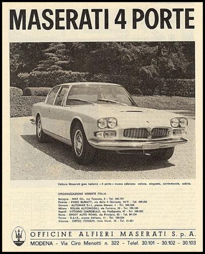 Vecchie pubblicità Maserati Masera26
