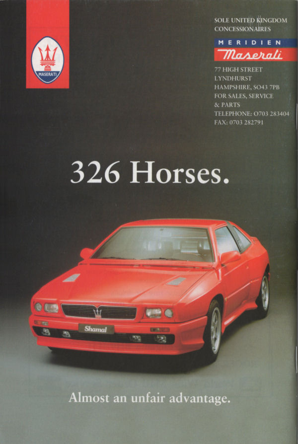 Vecchie pubblicità Maserati Meridi10