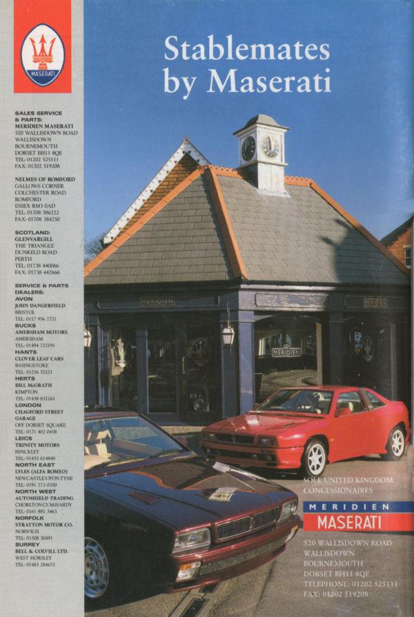 Vecchie pubblicità Maserati Meridi11