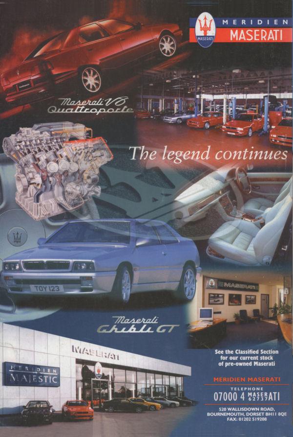 Vecchie pubblicità Maserati Meridi13