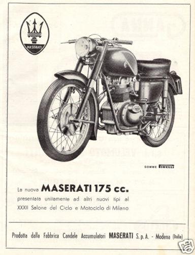 Vecchie pubblicità Maserati Moto10