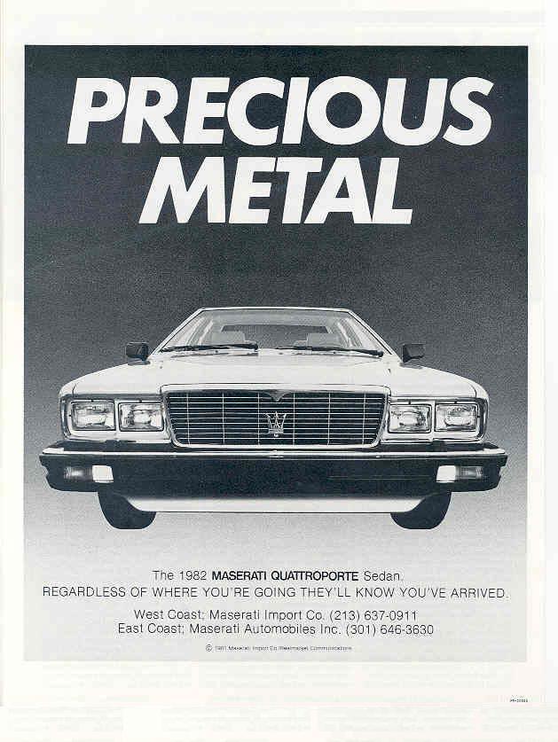 Vecchie pubblicità Maserati X5019b11