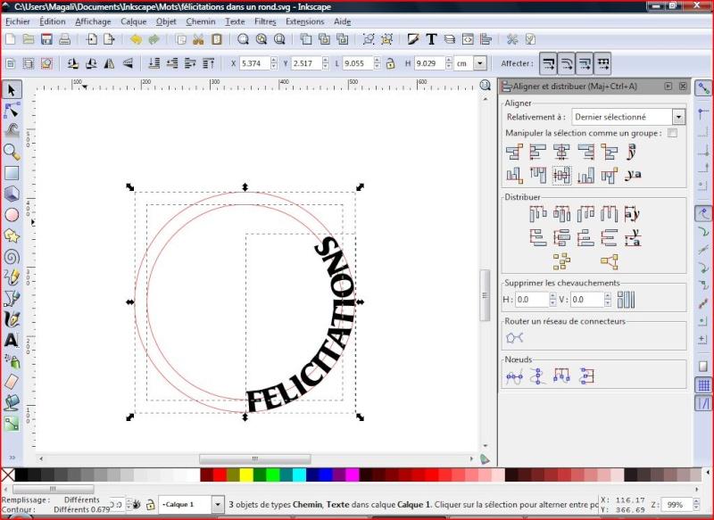 découper le long d'un cercle Felici10