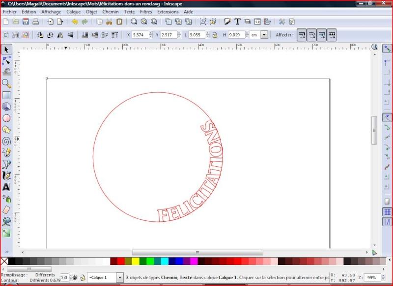 découper le long d'un cercle Felici11