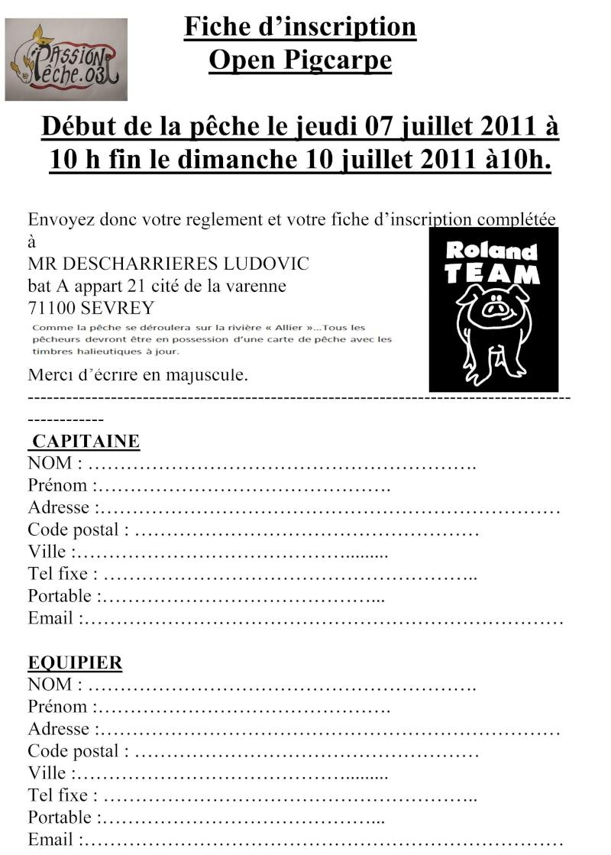 Open Pig Carpe à Vichy Inscri12
