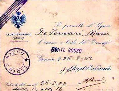 'Conte Rosso' - Lloyd Sabaudo - 1923 10_nav25