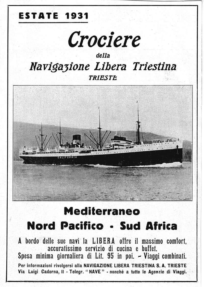 'California' -  Nav. Libera Triestina - 1921 12_8ca10