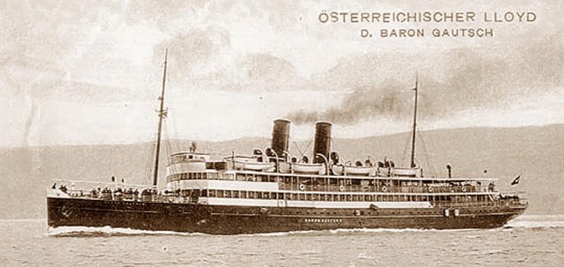 'Baron Gautsch' - Österreichischer Lloyd - 1908 12_bar10