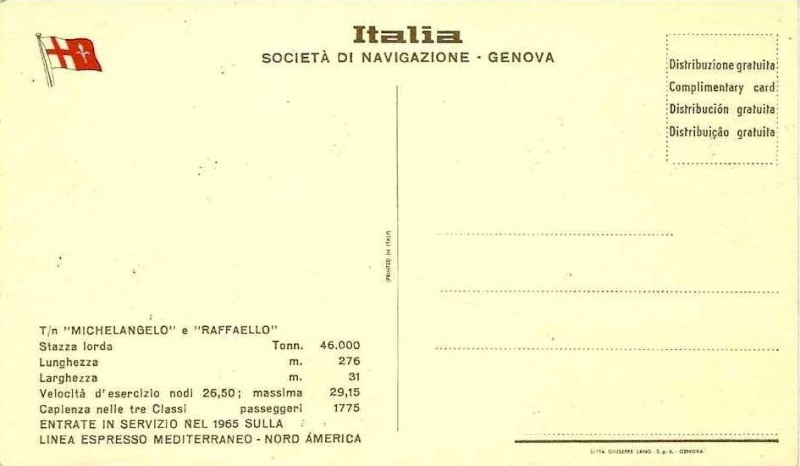 'Michelangelo' - Italia - 1965 12_nav34