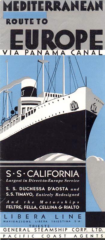 'California' -  Nav. Libera Triestina - 1921 13_9ca10