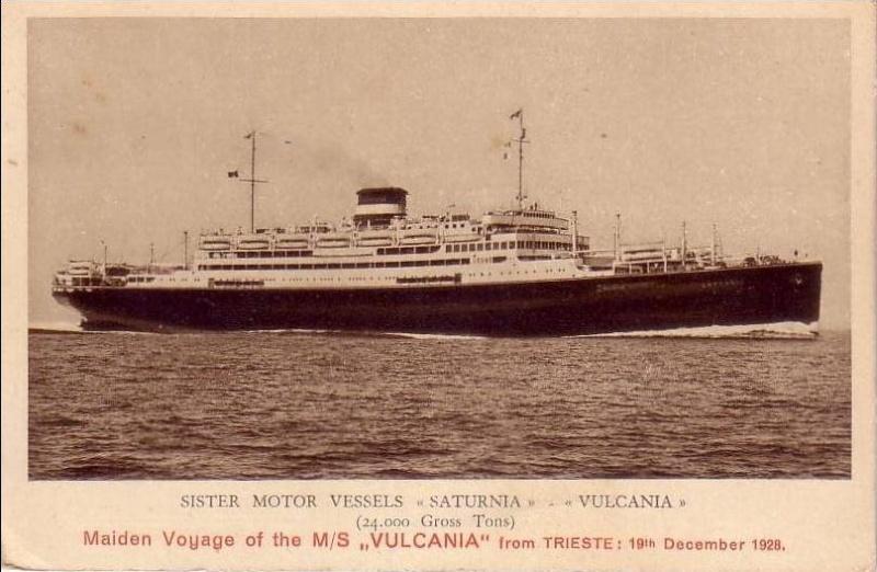 'Vulcania' - Cosulich - 1928 16_nav25