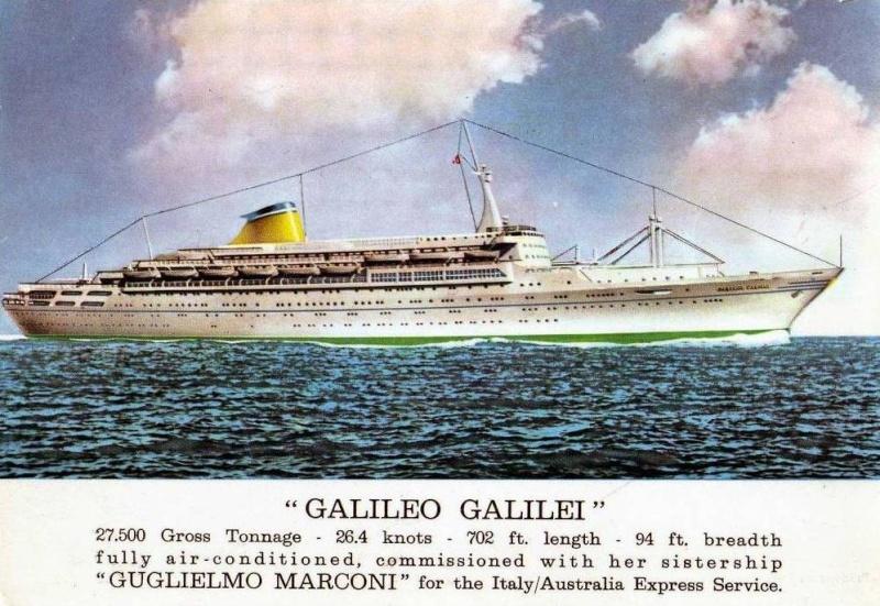 'Galileo Galilei' - Lloyd Triestino - 1963 25_nav16