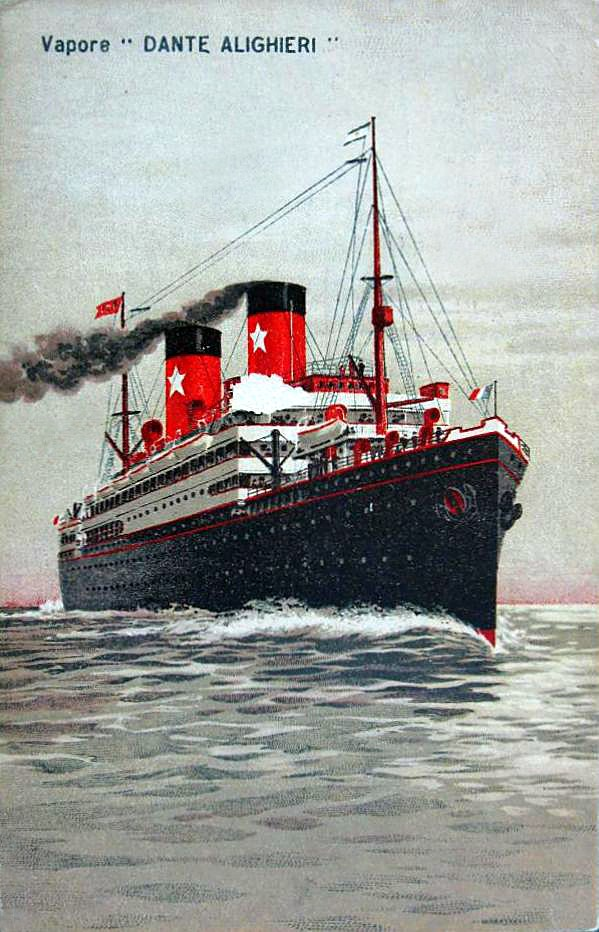 'Dante Alighieri' - Transatlantica Italiana - 1915 2_1dan10