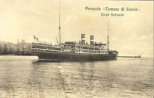 'Tomaso di Savoia' - Lloyd Sabaudo - 1907 2_nave24