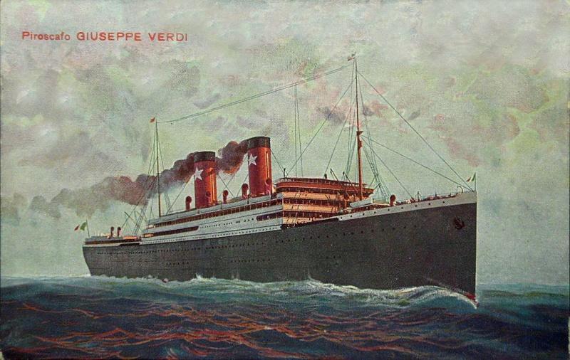 'Giuseppe Verdi' - Transatlantica Italiana - 1915 2_nave62