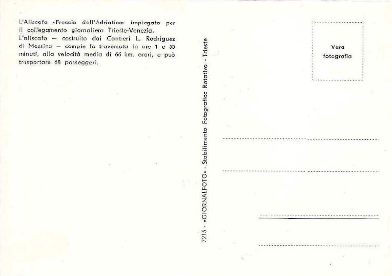 'Freccia dell'Adriatico - Soc. Aliscafi Trieste - 1959 4_frec10
