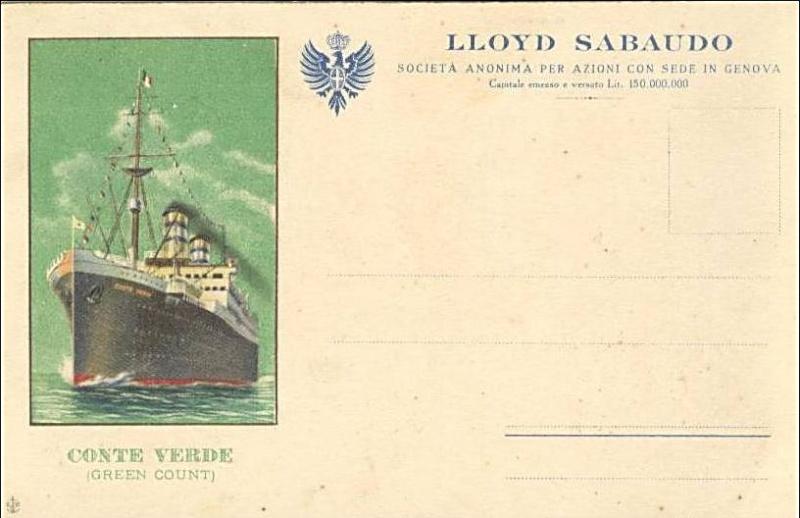 'Conte Verde' - Lloyd Sabaudo - 1923 4_nave31