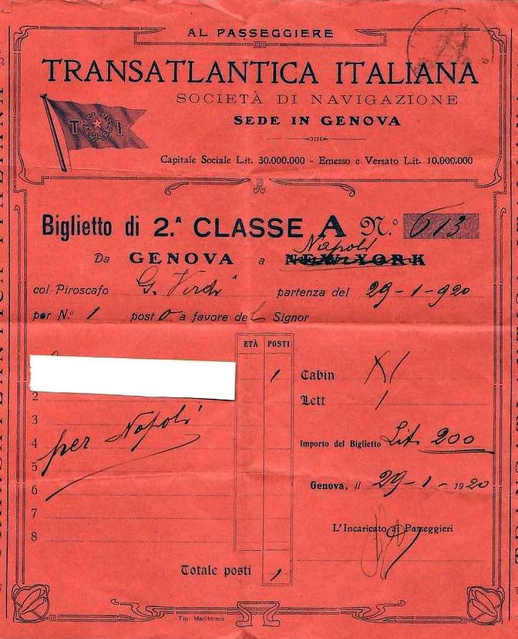 'Giuseppe Verdi' - Transatlantica Italiana - 1915 4a_rif10
