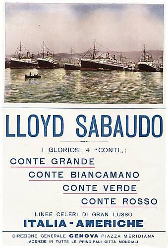 Tre o quattro ..Conti - Lloyd Sabaudo 5_quat11