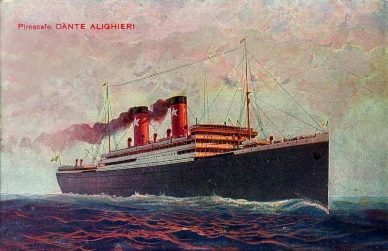 'Dante Alighieri' - Transatlantica Italiana - 1915 7_6dan10