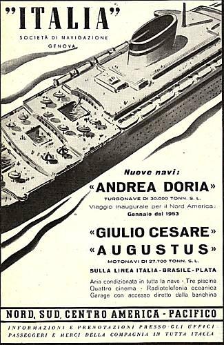 'Andrea Doria' - Italia - 1952 7_nave26