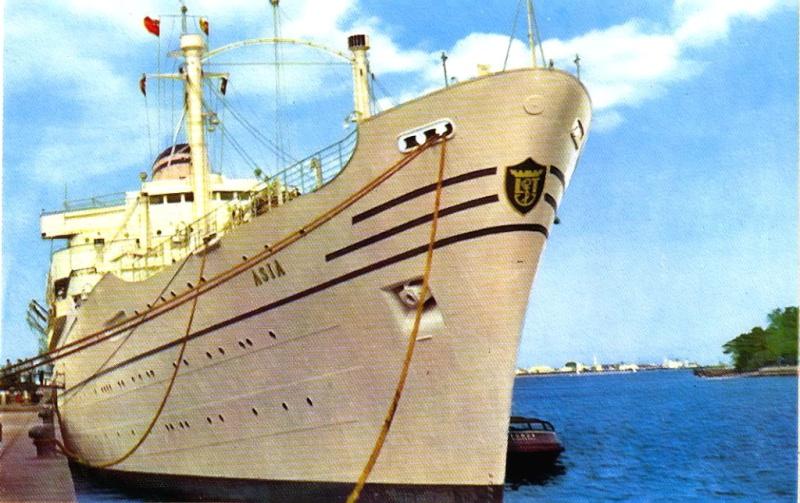 'Asia' - Lloyd Triestino - 1953 8a_bel10