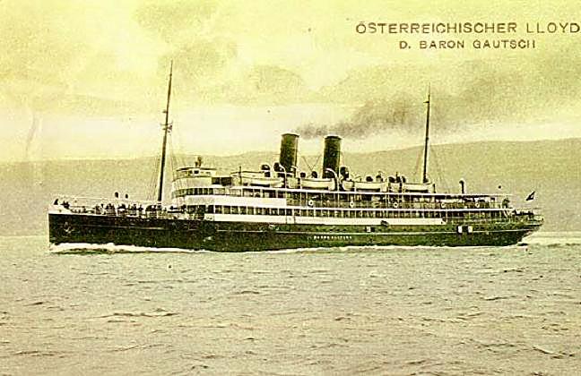 'Baron Gautsch' - Österreichischer Lloyd - 1908 9_nave48