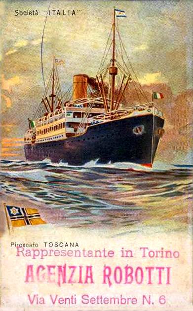 'Toscana'-Lloyd Triestino-1923/'Castel Felice'-Sitmar-1930 Nave_t17