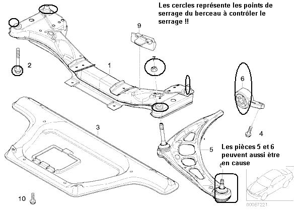 [ BMW E46 320D an 2001 ] couinement train avant et pneu arrière usés en escalier (résolu) 123_e410
