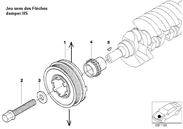 [ BMW E46 320D an 2000 ] vibration à l'accélération 21_e4611