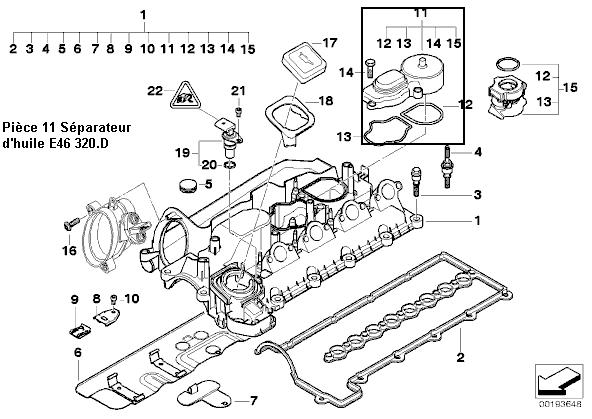 bmw e46 320d an 2002   remplacement du s u00e9parateur d u0026 39 huile