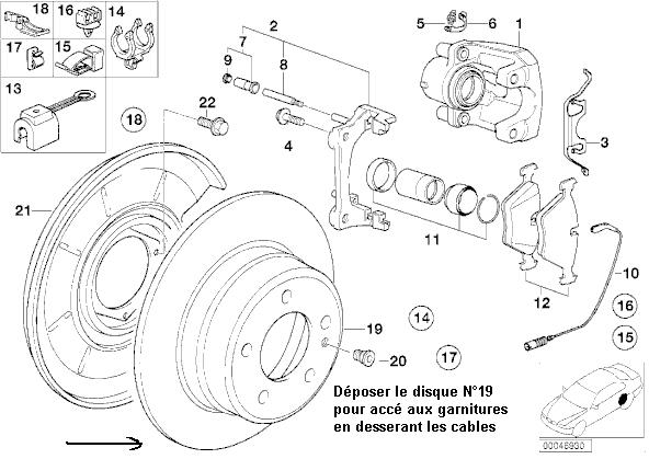 [ BMW E36 325i an 1993 ] comment changer systeme de cables de frein a main ? 70_dis10