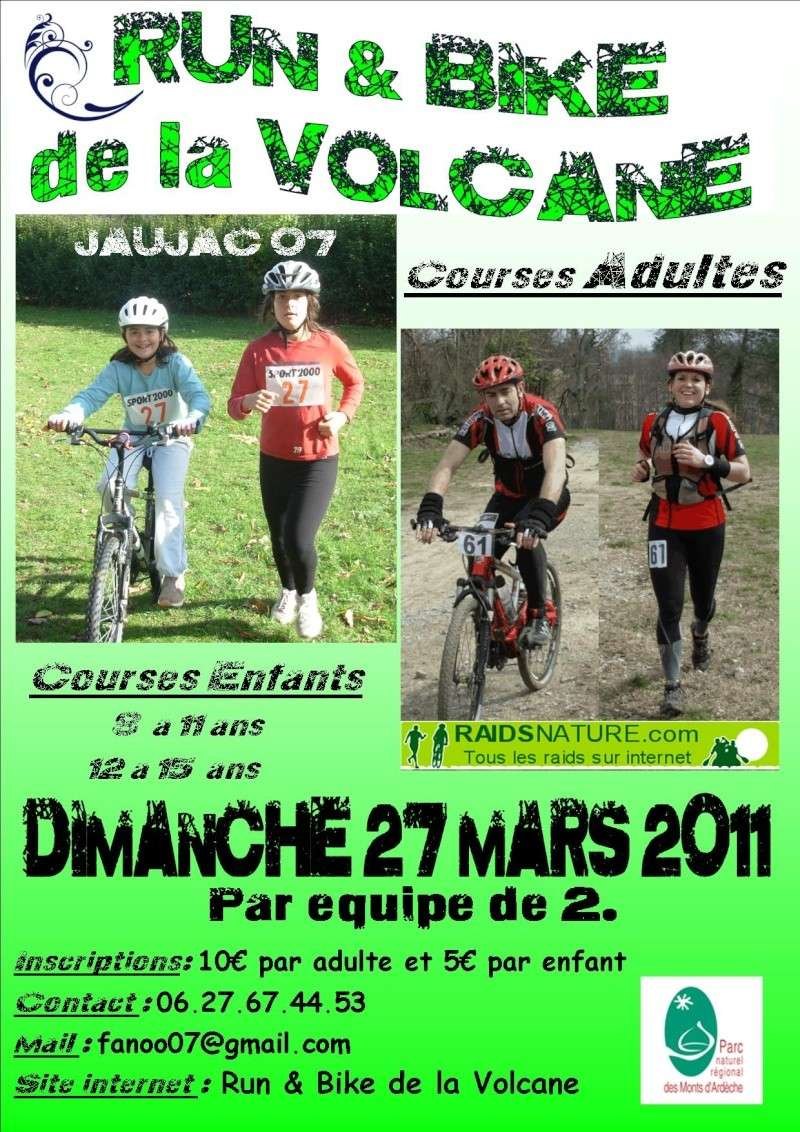 Run & Bike la Volcane Affich10