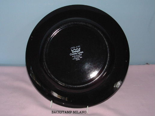 plate - Milano and Wessex - a yellow rim plate from hon-john  Backst10