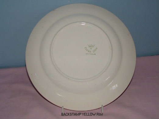 plate - Milano and Wessex - a yellow rim plate from hon-john  Backst11